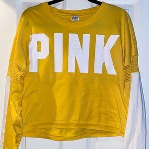 Yellow mesh Pink by Victoria secret shirt